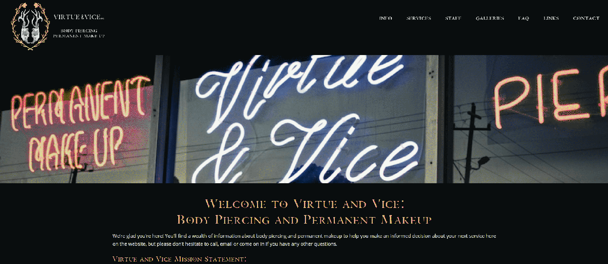 Web : Virtue and Vice Com